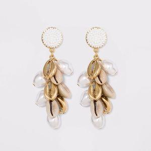 SUGARFIX by BaubleBar Shell Charm Drop Earrings